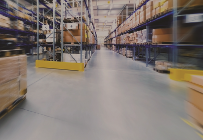 interior dynamic shot of warehouse